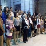 Graduandos en misa previa a la entrega de Diplomas en la Catedral de la Ciudad de Mérida